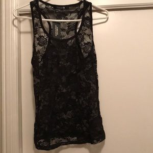 NWT Lace black top